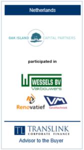 Oakisland -Schrøder Translink rådgav køber af virksomheden