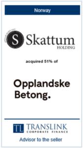 skattum - Schrøder Translink rådgav sælger af virksomheden