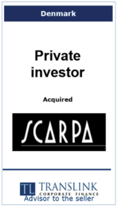 Privat investor køber Scarpa - Schrøder Translink rådgav under salg af virksomhed