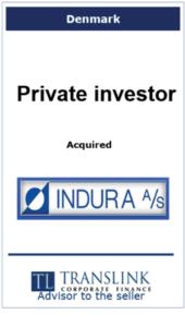 Privat investor køber indura -Schrøder Translink rådgav under salg af virksomhed