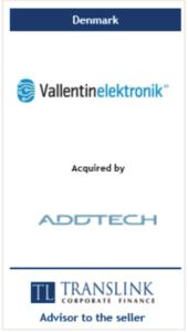 Vallentin elektronik - Schrøder Translink rådgav under salg af virksomhed