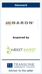 Akbaron - Schrøder Translink rådgav under salg af virksomhed