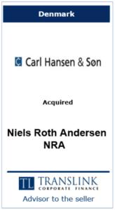 Carl - Schrøder Translink rådgav under salg af virksomhed