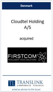 Cloudtel holding køber firstcom - Schrøder Translink rådgav under salg af virksomhed