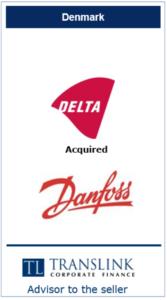 Delta køber Danfoss - Schrøder Translink rådgav under salg af virksomhed