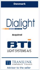 Dialight - Schrøder Translink rådgav under salg af virksomhed