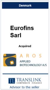 Eurofins Sarl - Schrøder Translink rådgav under salg af virksomhed