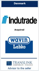 indutrade - Schrøder Translink rådgav under salg af virksomhed