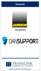 Janson køber dansupport - Schrøder Translink rådgav under køb af virksomhed