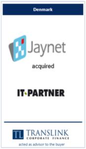 Jaynet købet itpartner - Schrøder Translink rådgav under køb af virksomhed