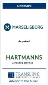 Marselisborg køber hartmann - Schrøder Translink rådgav under køb af virksomhed