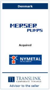 merser pumps - Schrøder Translink rådgav under salg af virksomhed