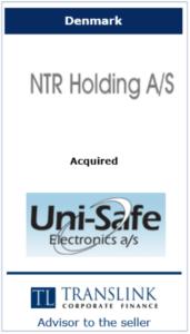 NT holding -- Schrøder Translink rådgav under salg af virksomhed