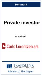 Privat investor købte Calo Lorentzen - Schrøder Translink rådgav køber af virksomheden
