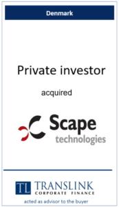 Privat investor køber Scape - Schrøder Translink rådgav under køb af virksomhed
