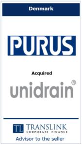 Purus - Schrøder Translink rådgav under salg af virksomhed