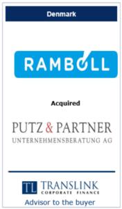 Rambøl køber Putz - - Schrøder Translink rådgav under køb af virksomhed