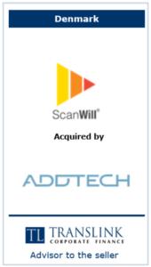 Scanwill købte addtech - Schrøder Translink rådgav under salg af virksomhed