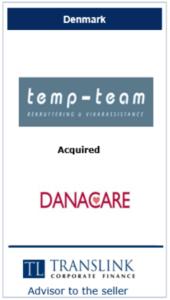 Tempteam - Schrøder Translink rådgav under salg af virksomhed
