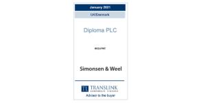 Translink rådgiver Diploma PLC ved købet af Simonsen & Weel A/S