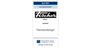 Schrøder translink rådgav Fischer group ved købet - erhvervsmægler